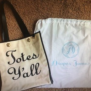 Draper James Totes Y'all Bag NEW with dust bag!
